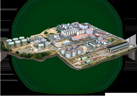 verbiogas Luftbild der Anlage Schwedt